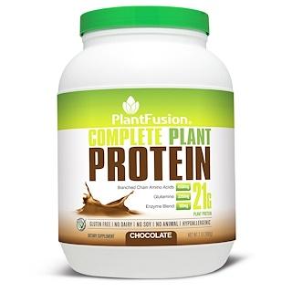 PlantFusion, بروتين نباتي كامل, بالشوكولاته، 2 باون (908 غ)