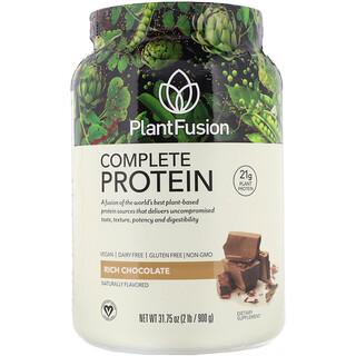 PlantFusion, 完全蛋白質,濃巧克力,2 磅(900 克)