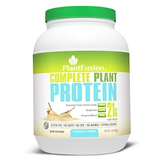 PlantFusion, Complete Plant Protein, Cookies N' Creme, 2 lb (908 g)
