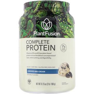 PlantFusion, 完整蛋白质,饼干和奶油,2 磅(900 克)