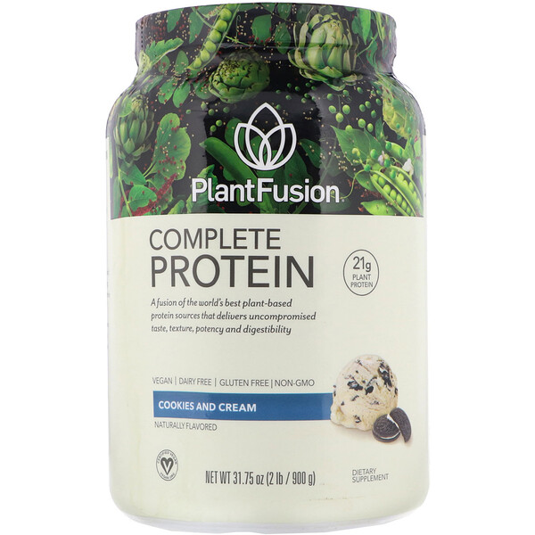 PlantFusion, Complete Plant Protein, Cookies and Cream, 2 lb (900 g)