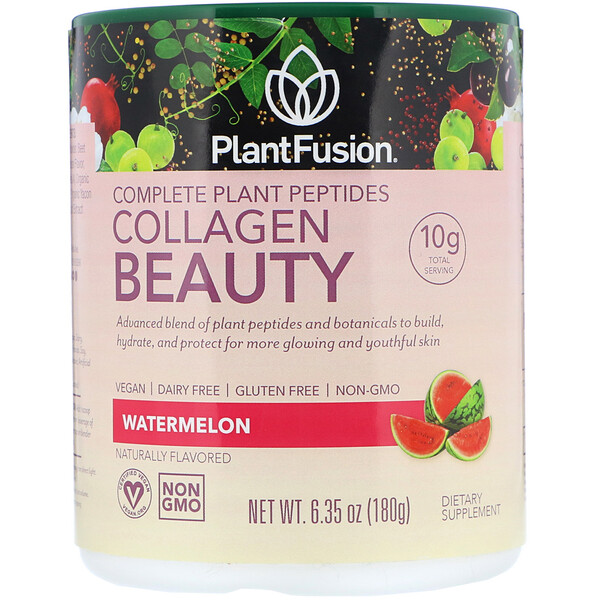 Complete Plant Peptides, Collagen Beauty, Watermelon, 6.35 oz (180 g)