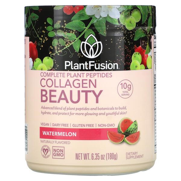 Complete Plant Peptides, Collagen Beauty, Watermelon, 6.35 oz (180 g)