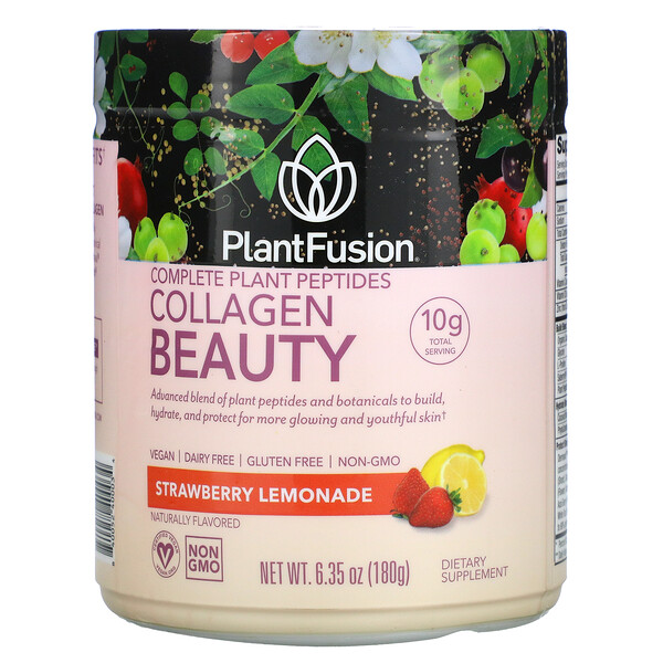 Complete Plant, Kollagen-Peptide, Erdbeerlimonade, 180g
