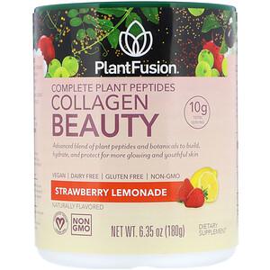 ПлэнтФьюжэн, Complete Plant Peptides, Collagen Beauty, Strawberry Lemonade, 6.35 oz (180 g) отзывы