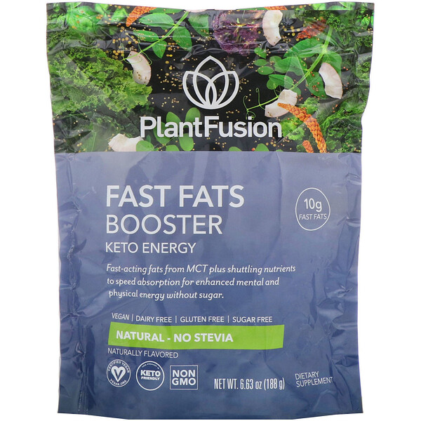 Fast Fats Booster, Keto Energy, Natural, 6.63 oz (188 g)