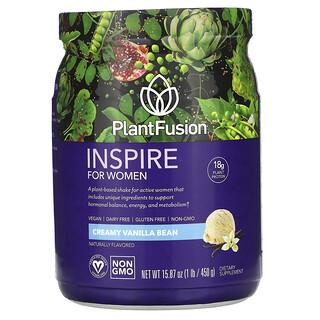 PlantFusion, Inspire for Women, Creamy Vanilla Bean, 15.87 oz (450 g)