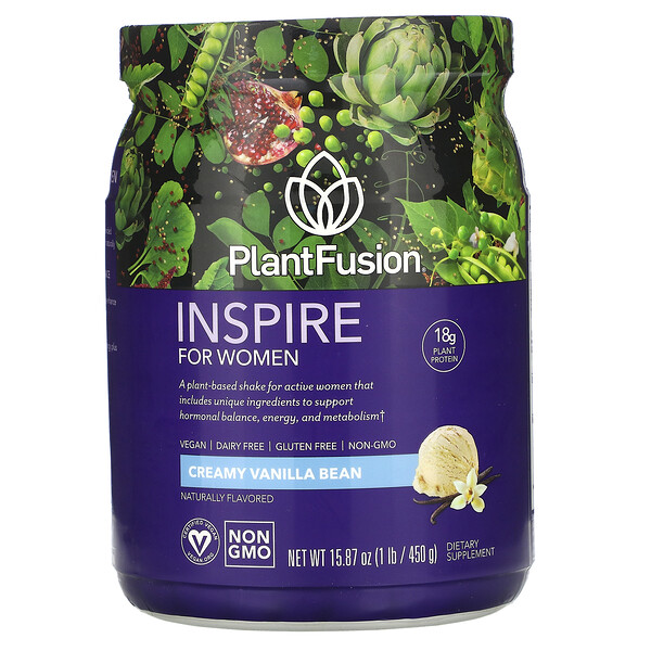 Inspire for Women, Creamy Vanilla Bean, 15.87 oz (450 g)