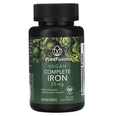 Купить PlantFusion Vegan Complete Iron, 25 mg, 90 Vegan Capsules