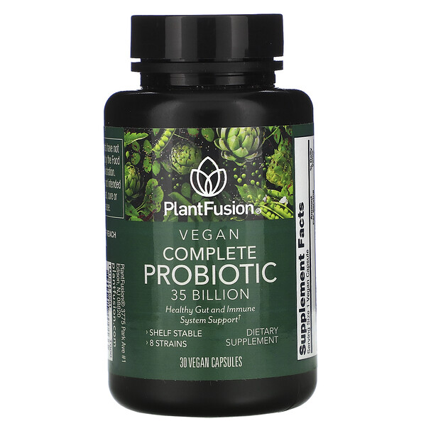 PlantFusion, Vegan Complete Probiotic, 35 Billion CFU, 30 Vegan Capsules