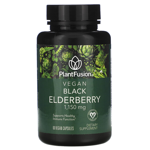 Vegan Black Elderberry, 1,150 mg, 60 Vegan Capsules