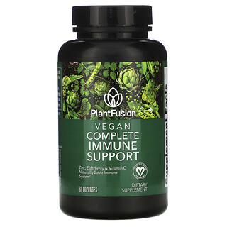 PlantFusion, Vegan Complete Immune Support, 60 Lozenges