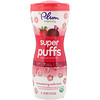 Plum Organics, Super Puffs, Organic Grain Cereal Snack, Strawberry with Beet, 1.5 oz (42 g)