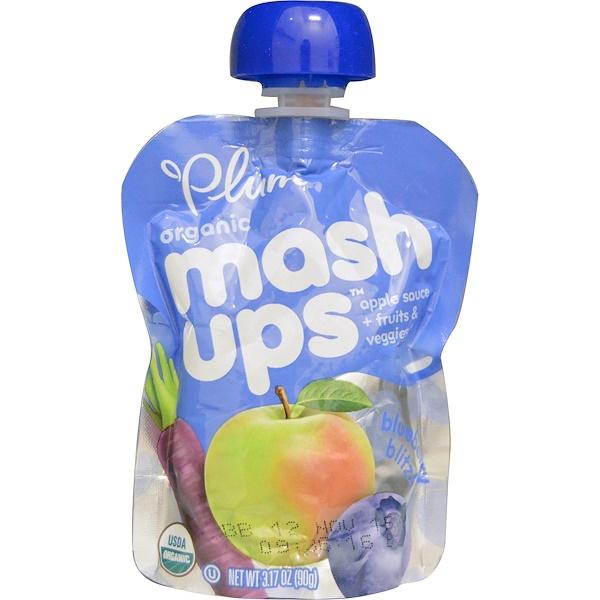 Plum Organics, Mashups, Blueberry Blitz, 3.17 oz (90 g) (Discontinued Item)