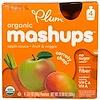 Plum Organics, Plum Organics, Mashups, Caroty Chop - Cenoura, Manga e Maçã, 4 Unidades, 3,17 oz (90 g) Cada