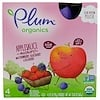 Plum Organics, Organic Applesauce Mashups with Strawberry, Blackberry & Blueberry , 4 Pouches, 3.17 oz (90 g) Each