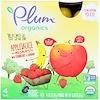 Plum Organics, Mixes de Purê de Maçã Orgânica com Morango  e Banana, 4 Sachês, 90 g Cada