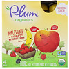 Plum Organics, Organic Applesauce Mashups with Strawberry & Banana, 4 Pouches, 3.17 oz (90 g) Each