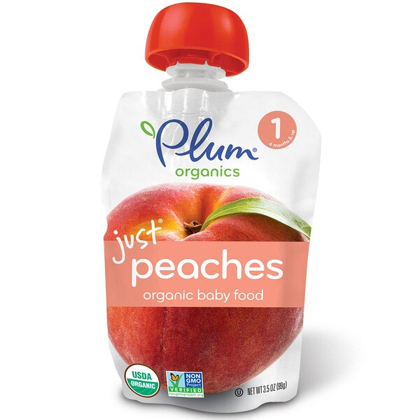 Organic Baby Food, Stage 1, Just Peaches, 3.5 oz (99 g)