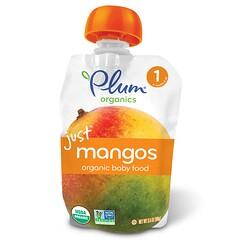 Plum Organics, 嬰兒有機食品,1段,只含芒果,3.5盎司(99克)