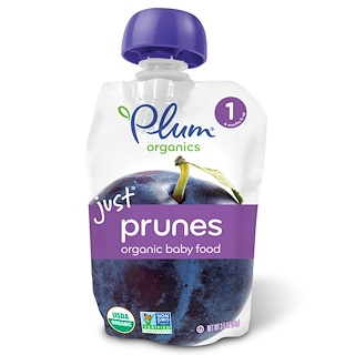 Plum Organics, Organic Baby Food, Stage 1, Just Prunes, 3.5 oz (99 g)