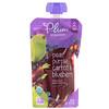 Plum Organics, Органическое детское питание, этап 2, груша, пурпурная морковь и черника, 4 унции (113 г)