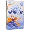 Plum Organics, Kids, Fruit & Veggie Shredz, Rooty Blues, 5 Packs, .63 oz (18 g) Each (Discontinued Item)