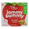 Plum Organics, Organic Jammy Sammy, Peanut Butter & Strawberry , 5 Bars, 1.02 oz (29 g) Each