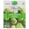 Plum Organics, Organic Baby Food, Stage 2, Pear, Spinach & Pea, 4 Pouches, 4 oz (113 g) Each