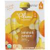 Plum Organics, オーガニックベビーフード、ステージ2、バナナ & パンプキン、4ポーチ、各4オンス (113 g)
