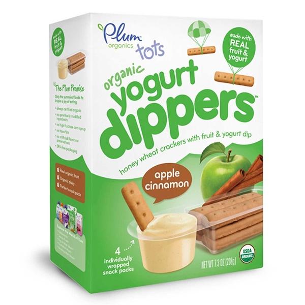 Plum Organics, Tots, Organic Yogurt Dippers, Apple Cinnamon, 4 Snack Packs, 52 g Each (Discontinued Item)