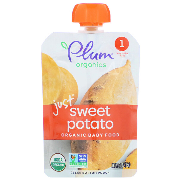 Organic Baby Food, Stage 1, Just Sweet Potato, 3 oz (85 g)