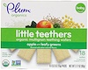 Plum Organics, Little Teethers, Organic Multigrain Teething Wafers, Apple with Leafy Greens, 6 Packs, 0.52 oz (15 g) Each