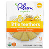 Plum Organics, Little Teethers، رقائق من الحبوب العضوية المتعددة للتسنين، بنكهة الموز واليقطين، 6 عبوات بحجم 0.52 أونصة (15 جم) لكل كيس