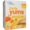 Plum Organics, リトルヤム(Little Yums), 生歯期のためのオーガニックウエハー, カボチャ&バナナ, 6パック, 各0.5オンス(14.1 g)