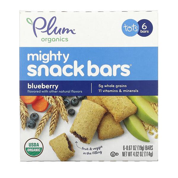 Mighty 零食棒,幼兒,藍莓味,6 根,每根 0.67 盎司(19 克)