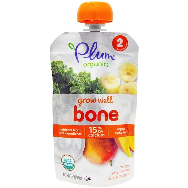 Plum Organics, Grow Well Bone, Mango, Kale, Banana & Greek Yogurt, 3.5 oz (99 g) (Discontinued Item)