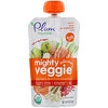 Plum Organics, Tots, Mighty Veggie, Carrot, Pear, Pomegranate Oats, 4 oz (113 g)