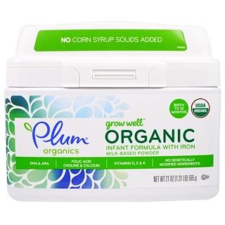 Plum Organics, Grow Well Organic Infant Formula With Iron Milk-Based Power, 21 oz (595 g)