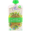 Plum Organics, Stage 2, Eat Your Colors, Green, Pea, Kiwi, Pear & Avocado, 3.5 oz (99 g)
