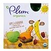 Plum Organics, Смузи, яблоко и банан, ореховый сквош, финики и овес, 4 пакета, 90 г (3,17 унции) каждый