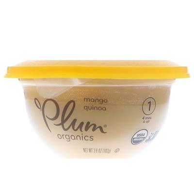 Plum Organics 嬰兒碗裝輔食,階段1,芒果和藜麥,3.6盎司(102克)