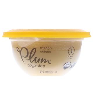 Plum Organics, Детская высокая тарелка, ступень 1, манго и киноа, 3,6 унц. (102 г)