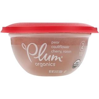 Plum Organics, Baby Bowl, Pear, Cauliflower, Cherry, Stage 2, Raisin, 3.6 oz (102 g)