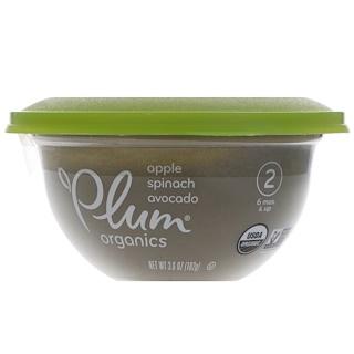 Plum Organics, ベビーボウル、ステージ2、アップル、ホウレンソウとアボカド、3.6 oz (102 g)