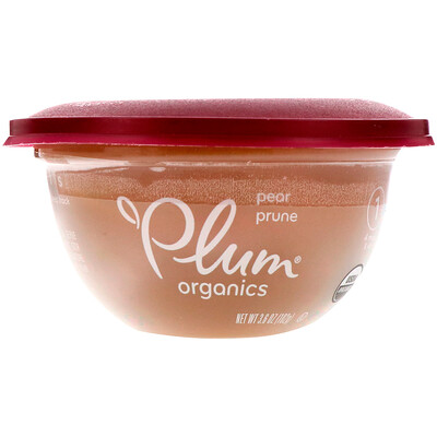 Plum Organics 嬰兒碗,第1階段,梨、李子,3.6盎司(102克)