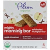 Plum Organics, Mighty Morning Bar, Tots, Apple Cinnamon, 5 Bars, 0.67 oz (19 g) Each