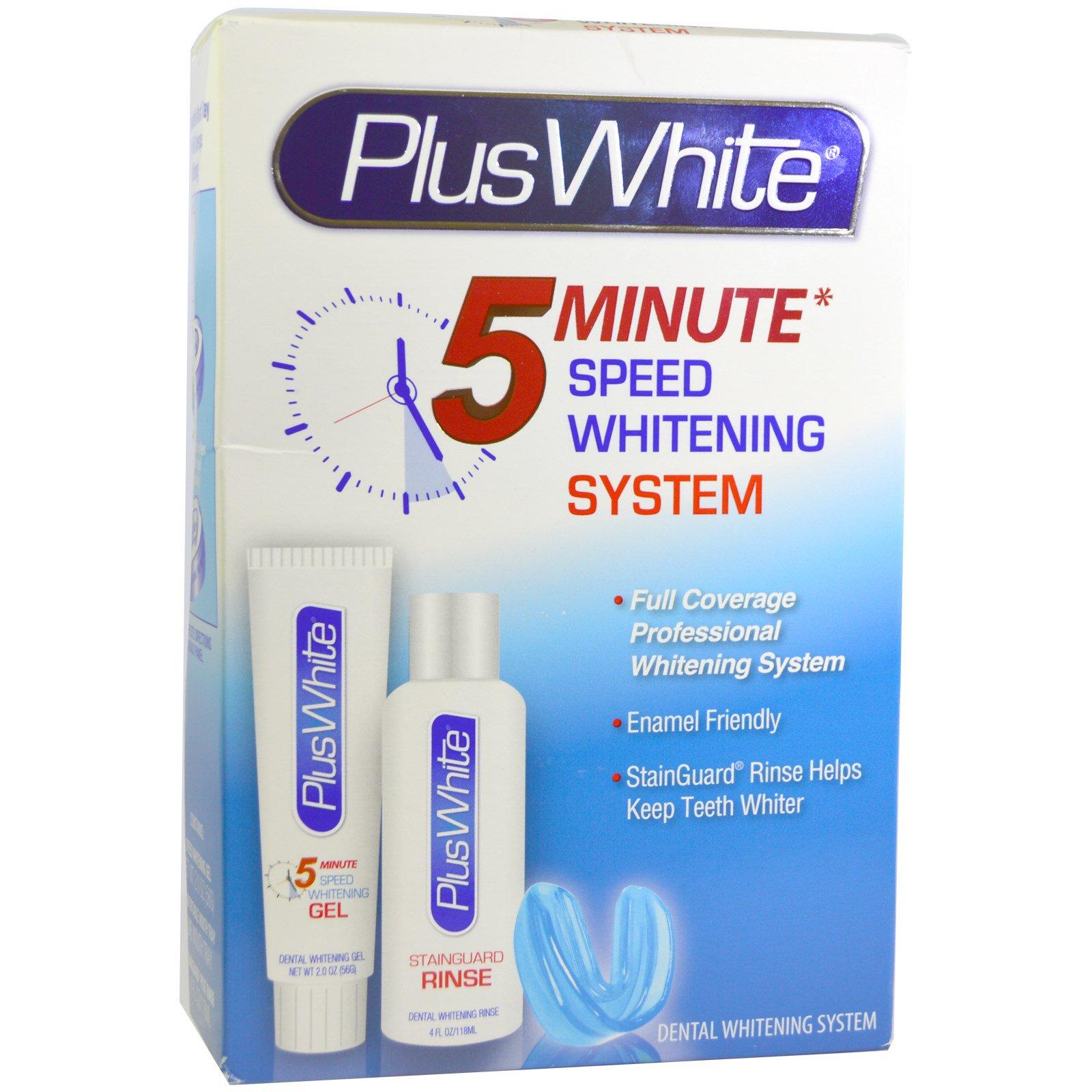 Plus White, 5 Minute Premier Whitening System, 3 Piece Whitening Kit ...