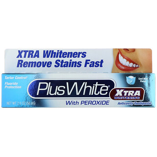 Plus White, Xtra Whitening with Peroxide, Clean Mint Flavor, 2.0 oz (56.6 g)