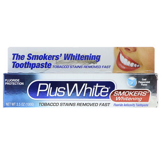Plus White, The Smokers' Whitening Toothpaste, Cool Peppermint Flavor, 3.5 oz (100 g)